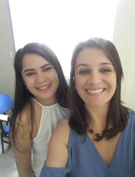 Elivia Teles Fisioterapeuta e Denise Delmontes Psicóloga